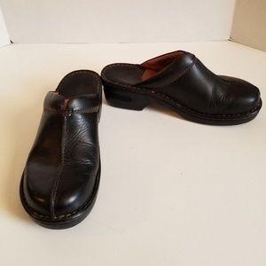Born Women's Black Leather Slip-on Mules Size 8M